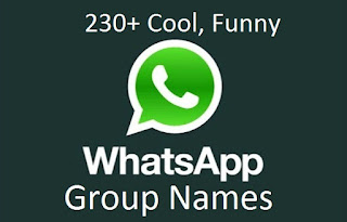 230+ Cool, Funny Whatsapp Group Names