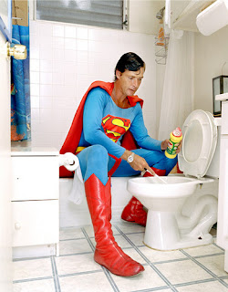 Superman Cleaning