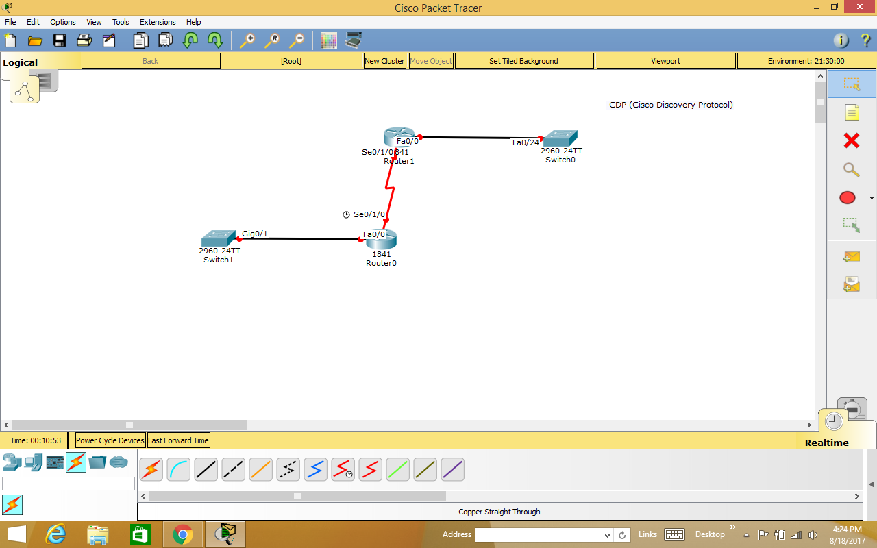 Young CCNA Lab Trainers: CDP - (Cisco Discovery Protocol) Lab work