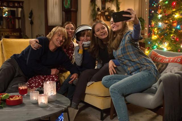Foto familiar de Wonder en Navidad