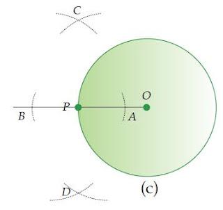 Cara Melukis Garis Singgung Lingkaran