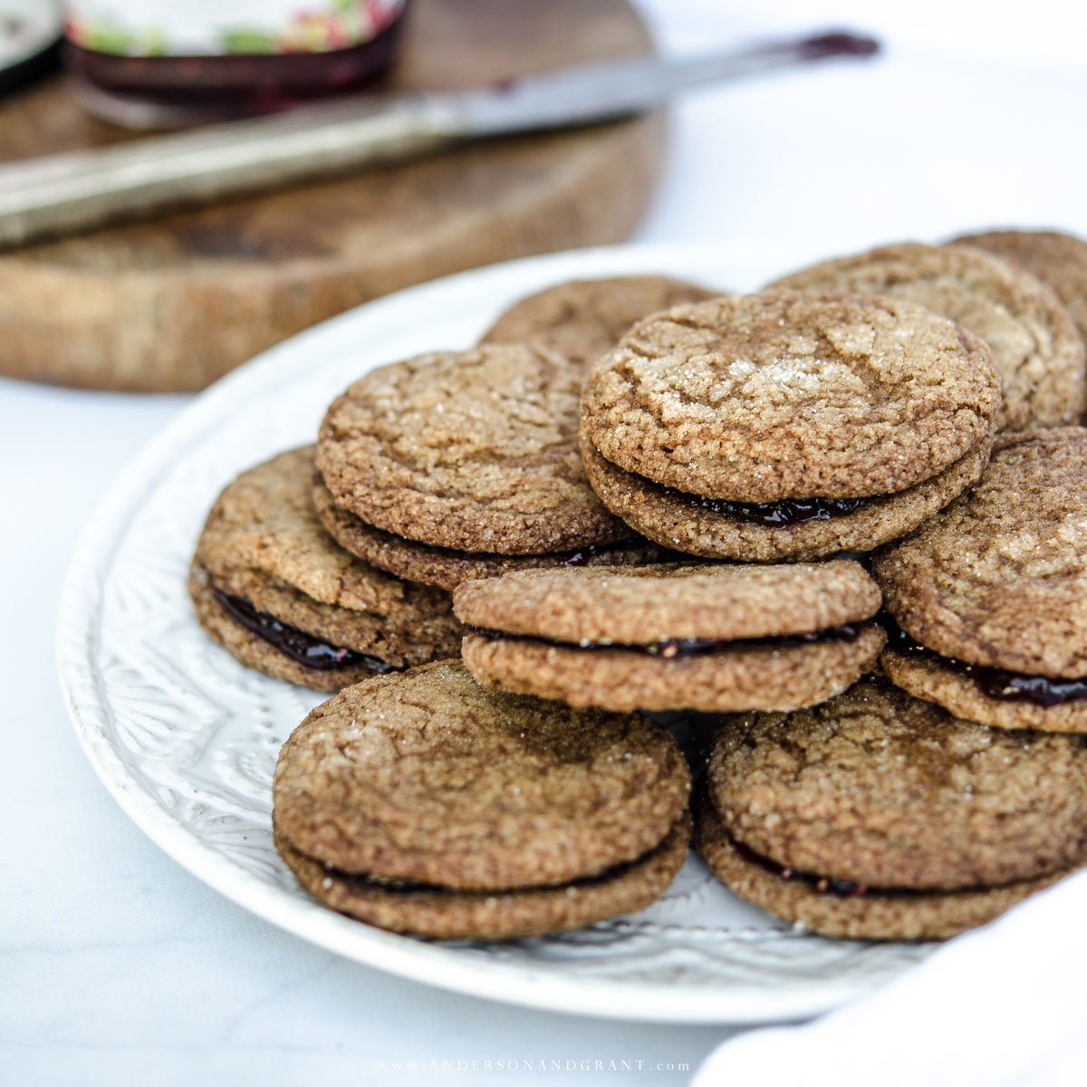 Raspberry Jam Gingersnaps