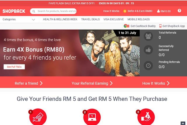 Tips berjimat online shopping dengan shopback malaysia, shopback malaysia, shopback.my, hungrygowhere, apa itu shopback, apa kelebihan shopback, cara dapat cashback dari shopback, cashback with shopback, dapat reward dengan referral earning,