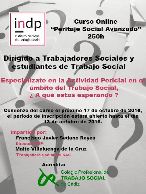 Curso de 250 para especializarse en peritaje social
