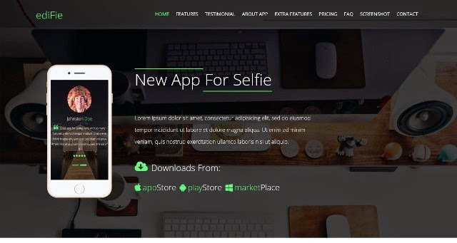 Edifie- A responsive Bootstrap App landing Page Template