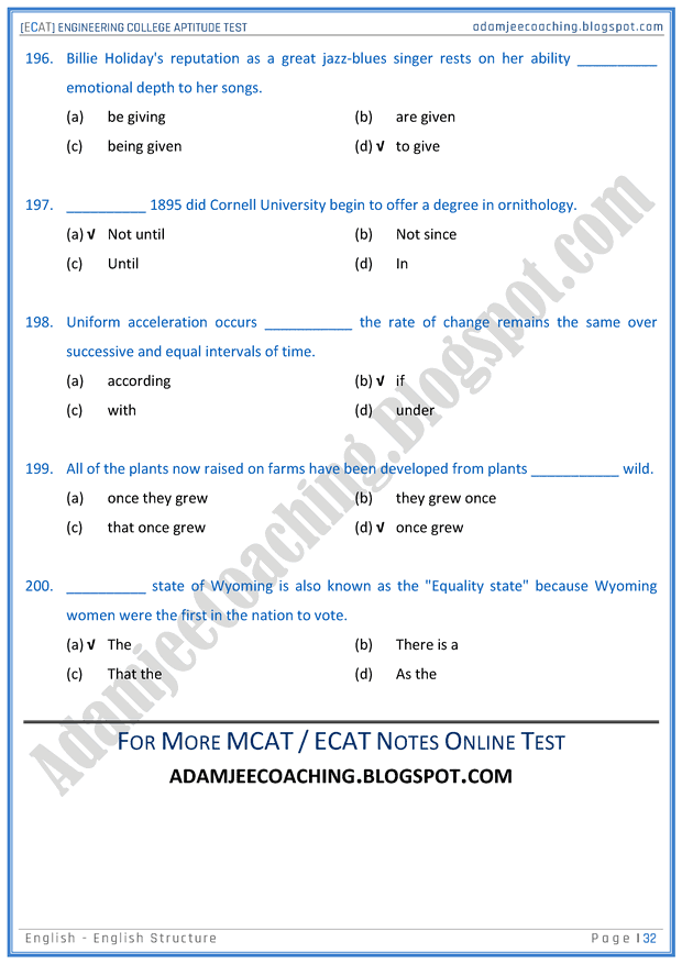 ecat-english-english-structure-mcqs-for-engineering-college-entry-test