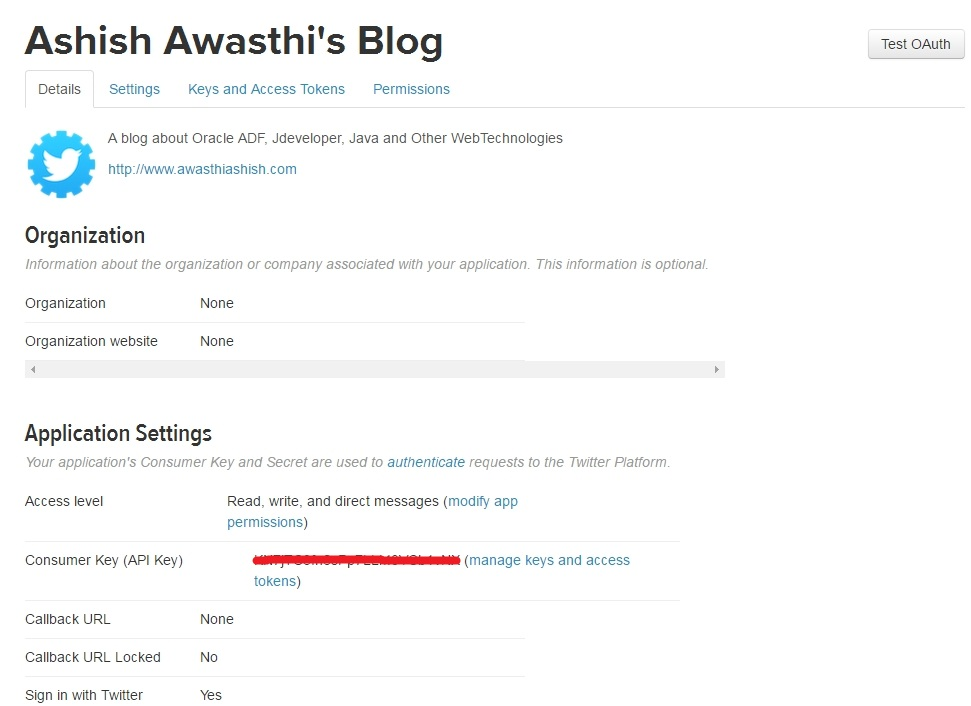 Post to twitter using Twitter4J API in Oracle ADF and Java