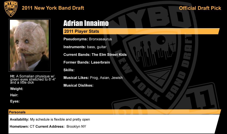 50ff5988f0b454 New York Band Draft  September 2011