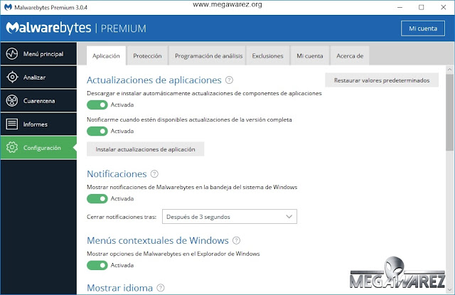 Malwarebytes Premium 3 imagenes