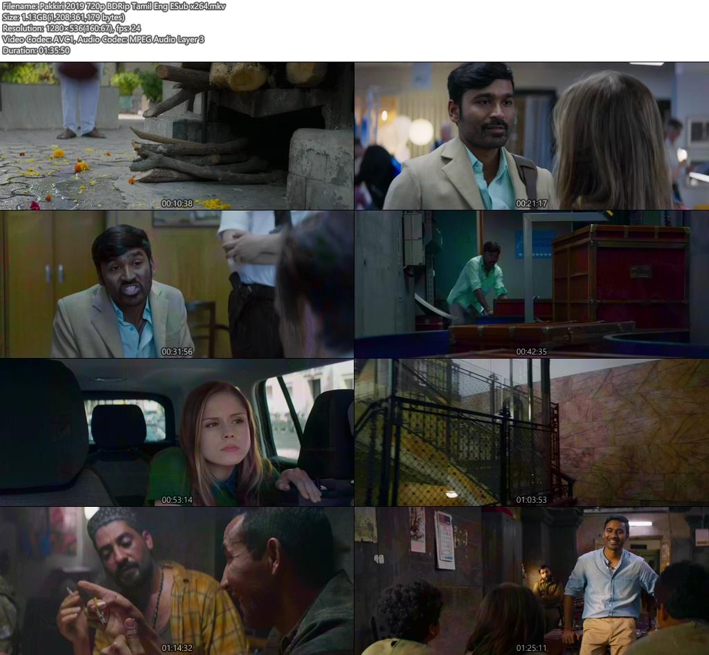 Pakkiri 2019 720p BDRip Tamil Eng ESub x264 | 480p 300MB | 100MB HEVC Screenshot