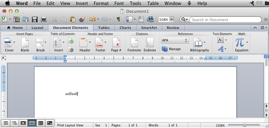 Save As, Insert, Tools, etc in MS Word 2011 (Mac OS Version