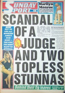 front page of the Sunday Sport newspaper from 17th May 1987
