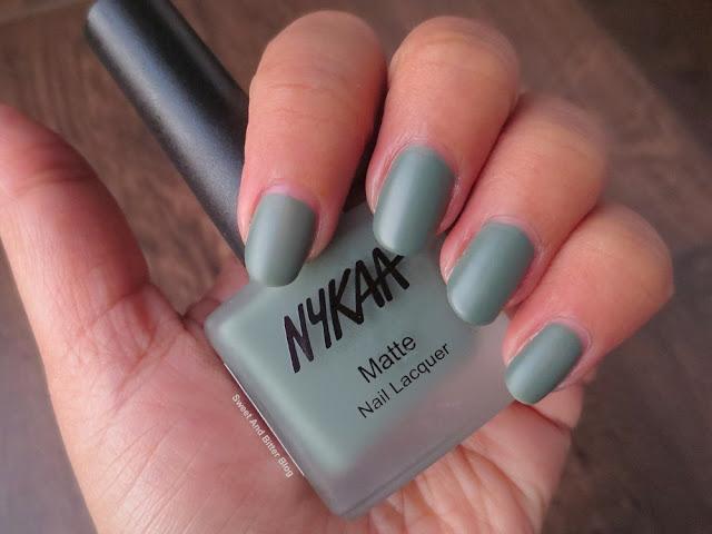 Nykaa Matcha Tiramisu Matte Nail Polish Swatch