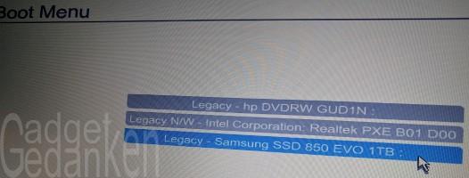 SSD wurde vom Bios richtig erkannt