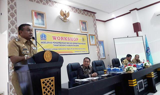 Bupati Fahsar Buka Workshop Akselerasi Pengembangan Inovasi Administrasi Negara