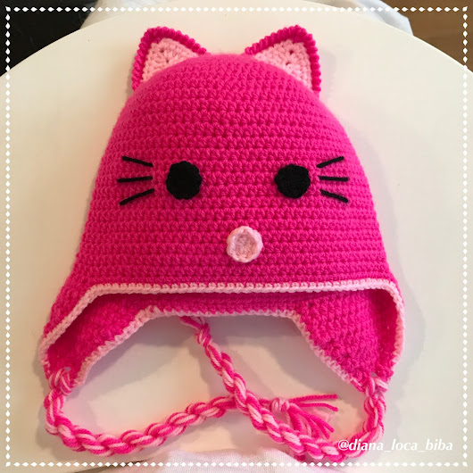 How to crochet - cat hat - step by step - instructions