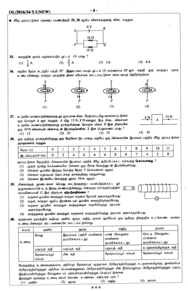gce science past papers