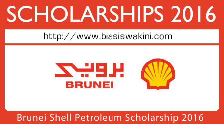 Brunei Shell Petroleum Scholarship 2016