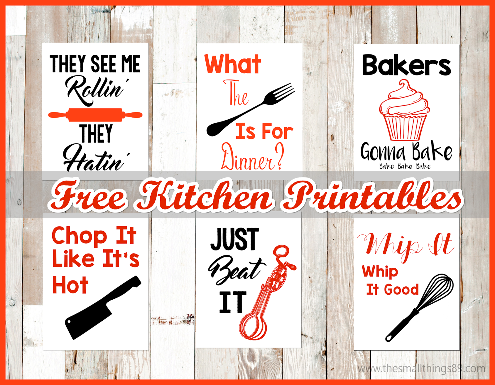 photo about Free Kitchen Printables titled Absolutely free and Adorable Kitchen area Wall Artwork Printables!