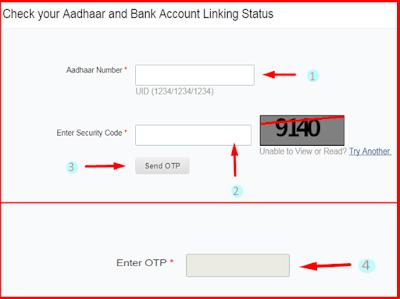 Enter Aadhaar number, Captcha code and otp