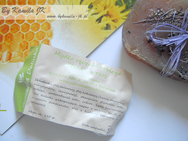 Pszczela Dolinka ręcznie robione kosmetyki naturalne mydło miodowe z wrzosem kosmetyki