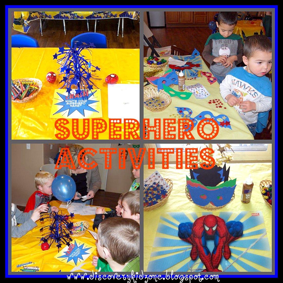 Discovery Kidzone Montessori Adventures Superheroes And Villians Happy Birthday Zackman