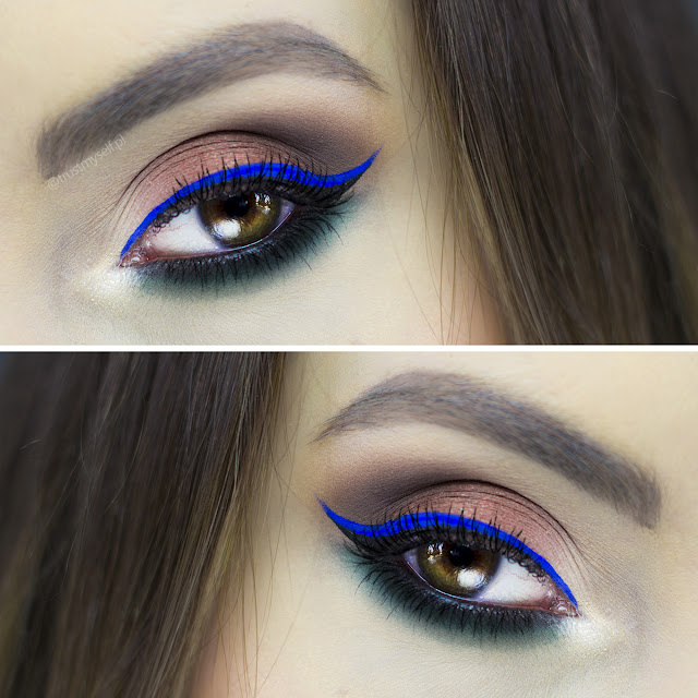 Makijaż-makeup-Anshu-NYX Cosmetics-Ultimate Shadow-smokey eyes