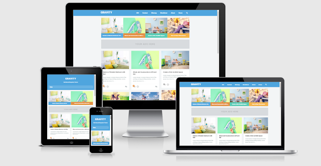 Download Gravity Responsive Blogger Template