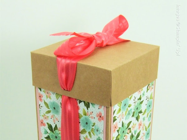 Beautiful Tall Gift Box for a Glass or Ceramic Gift