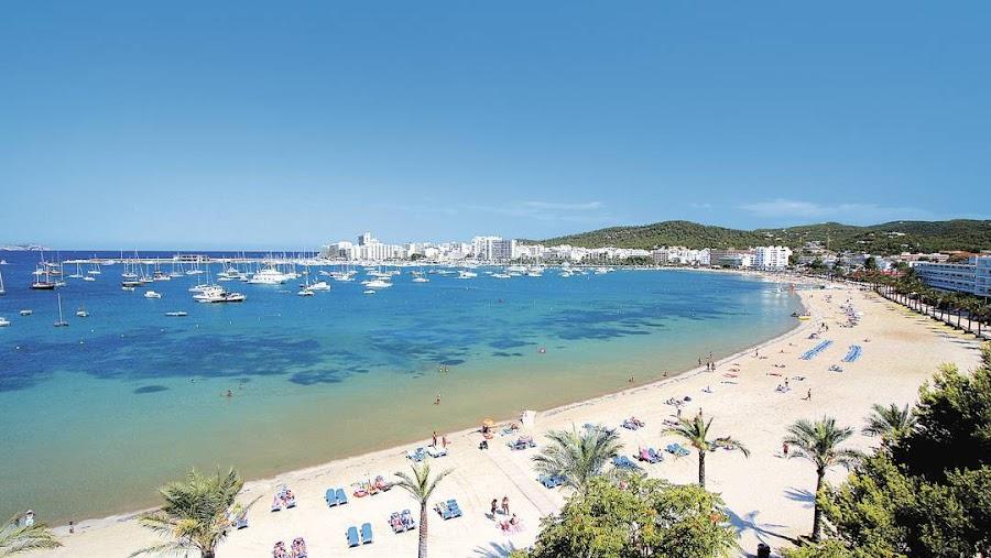 Playas en San Antonio en Ibiza