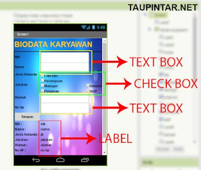 Membuat Program Biodata Sederhana Dengan App Inventor