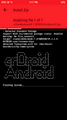 Mi Update: crDroidAndroid-8 1-20180310-mido-v4 0