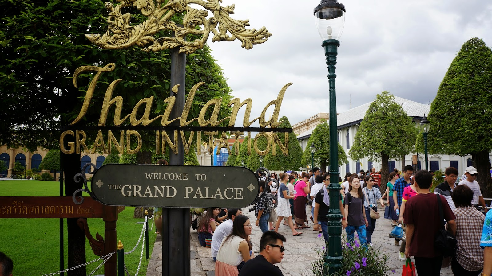 The entrance to the Grand Palace. Proper attire is required for entry