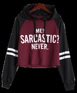 zaful hoodie, zaful majica s kapuljačom, hudica, sarcastic