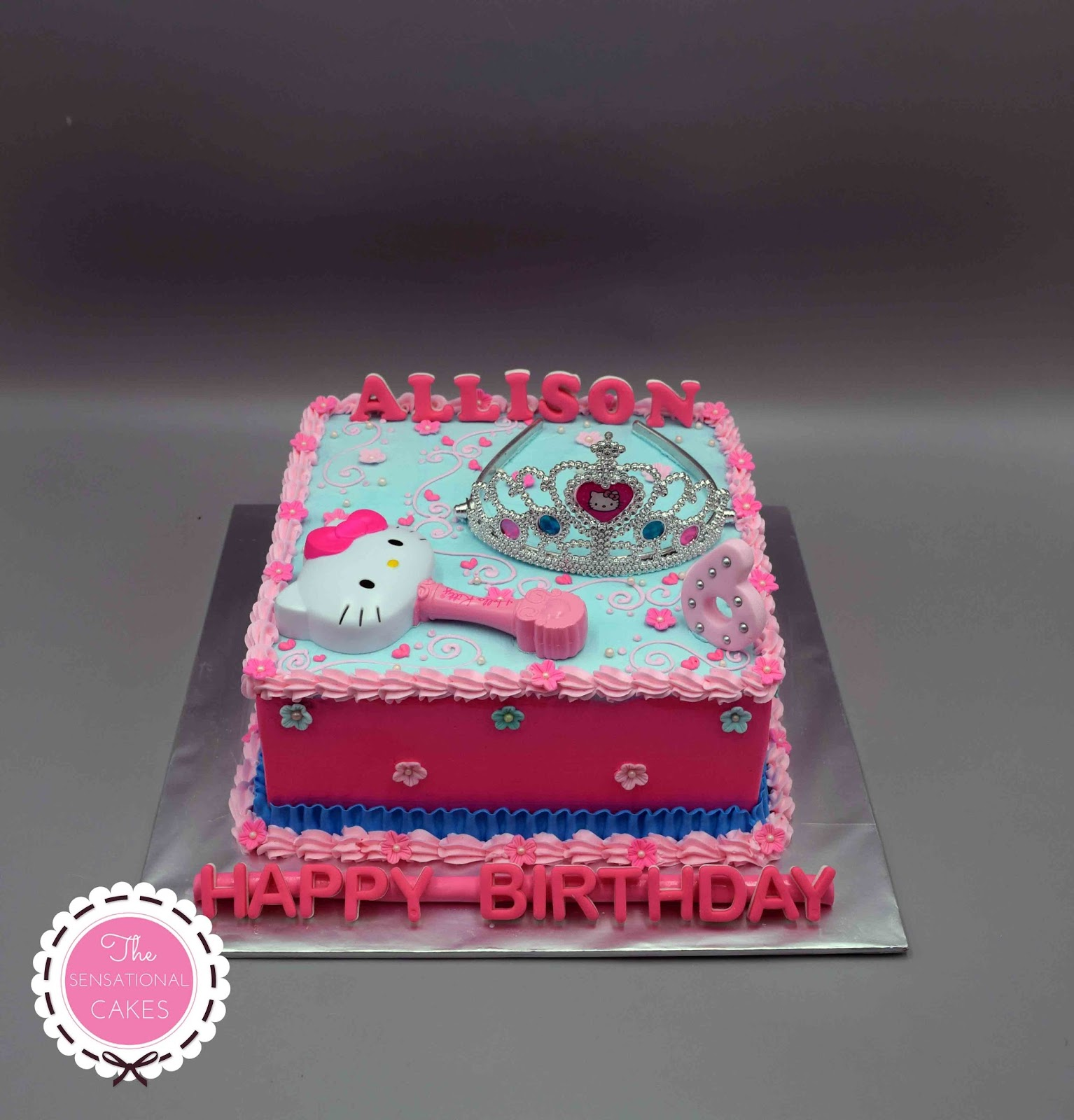 The Sensational Cakes Hello Kitty Pink Tiara Birthday Cake Singapore