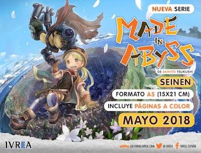 Ivrea publicará MADE IN ABYSS en España.
