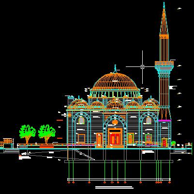 Gambar Kerja Masjid Lengkap DWG Gratis