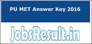 PU MET Answer Key 2016
