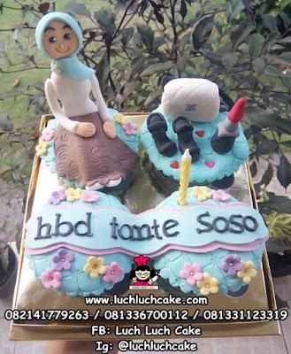 Cupcake Tema Fashion Jilbab