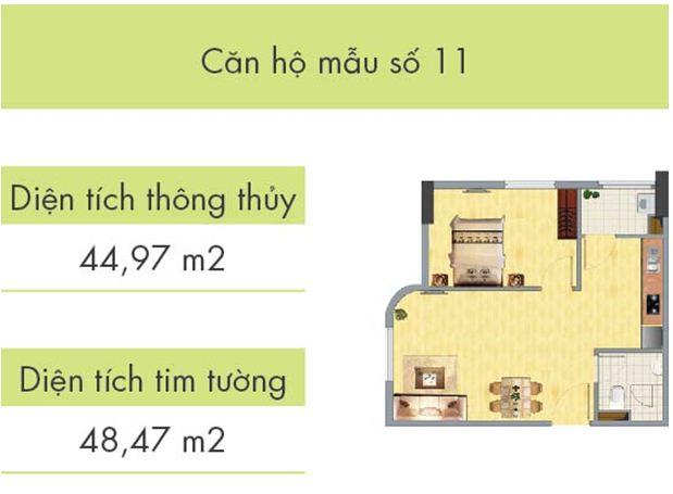 Căn hộ số 11 tòa CT1B