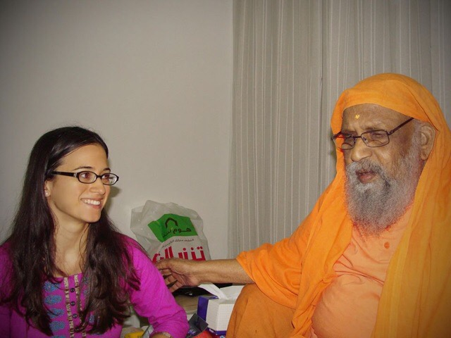 Lakshya with swami Dayananda Saraswati