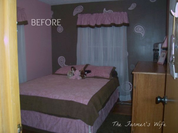 Country Cute Turquoise Red Bedroom Makeover