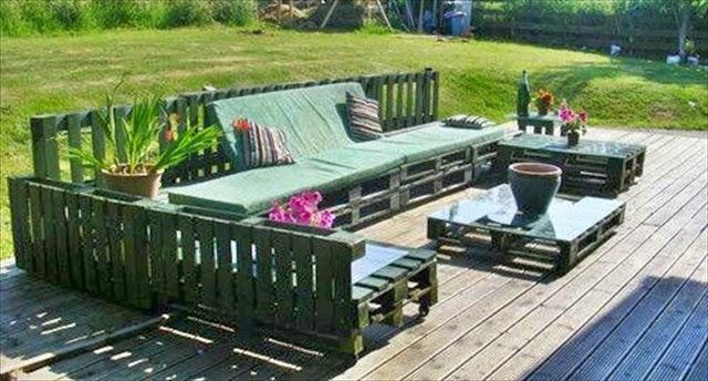 Decorar Patios Muebles Originales Con Palets Hazlo Tu Mismo - Decorar-jardines-con-palets