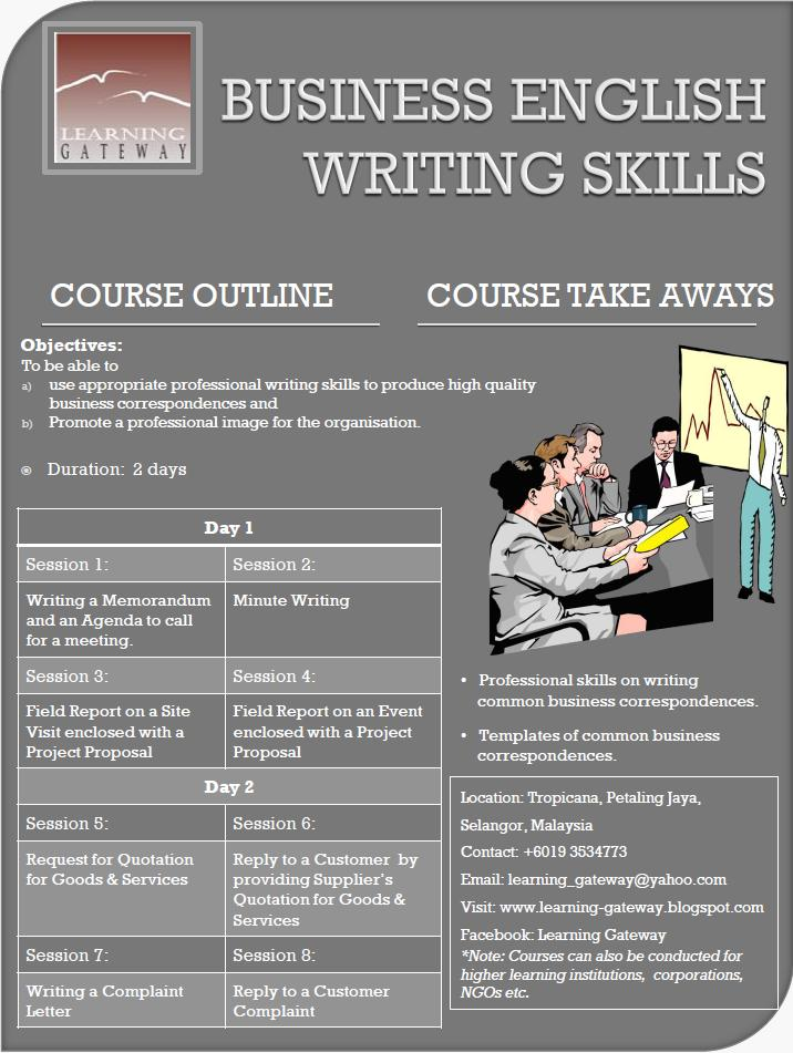 Business writing skills course johannesburg
