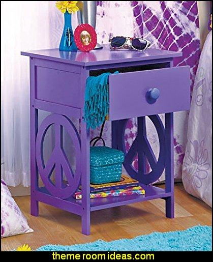End Table, Night Stand, Decorative Purple