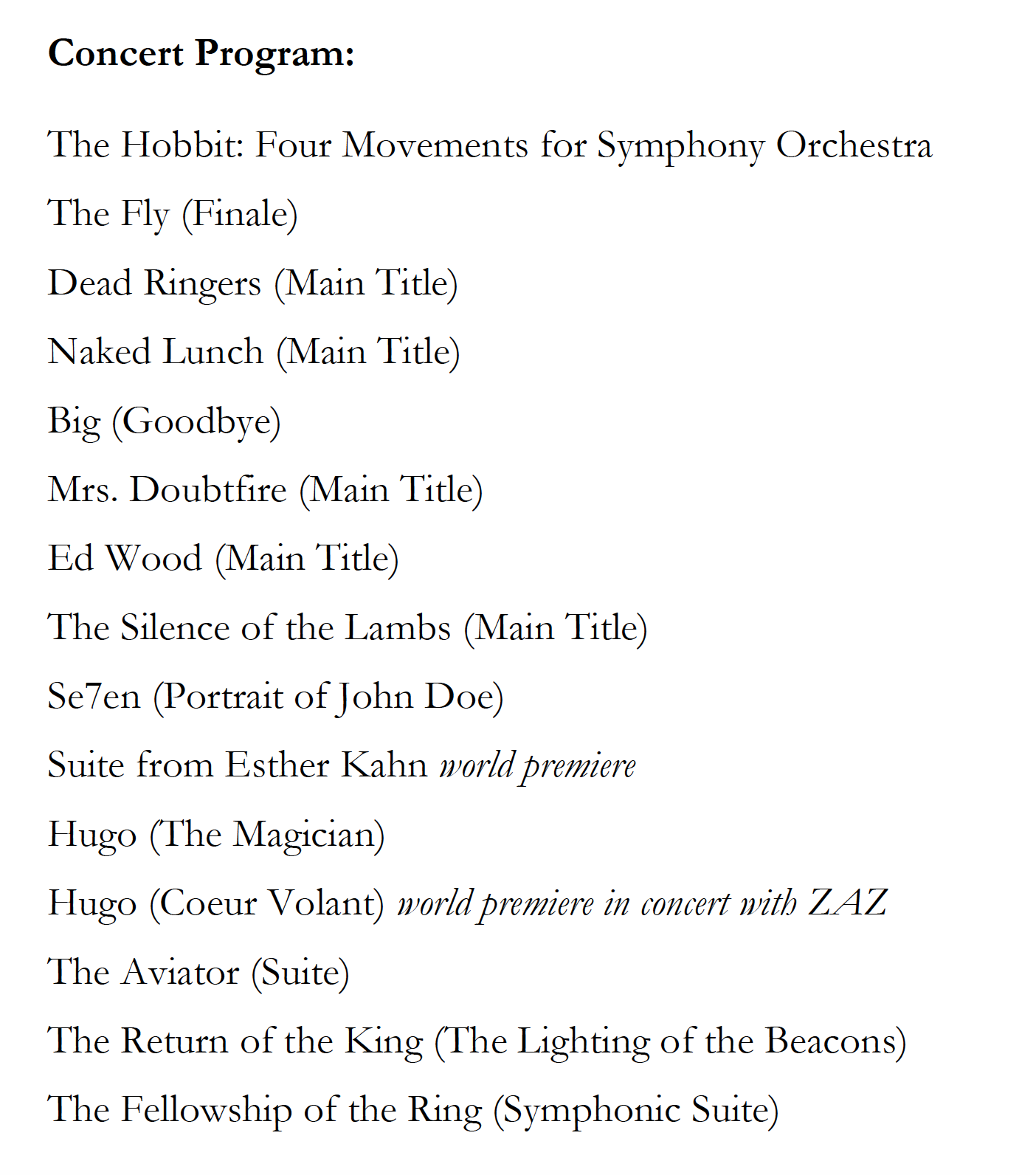The Music of the Lord of the Rings Films   Doug Adams' Blog
