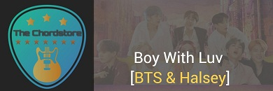 BOY WITH LUV Guitar Chords ACCURATE | BTS & Halsey