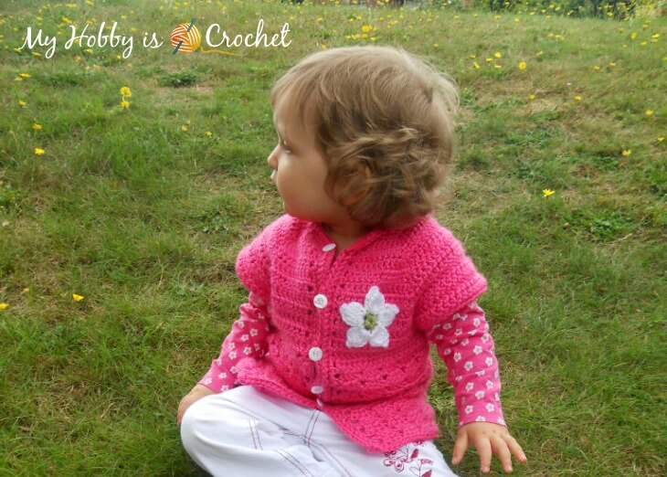 f9afef101 My Hobby Is Crochet  Toddler Short Sleeved Cardigan