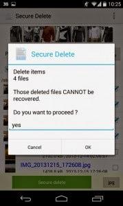 تطبيق Secure Delete