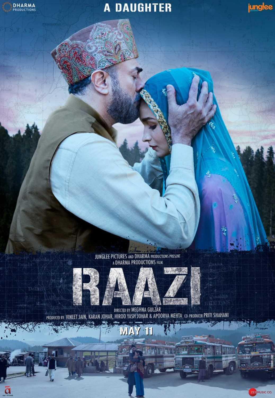 Raazi (2018) Hindi 720p BluRay x264 999MB ESubs